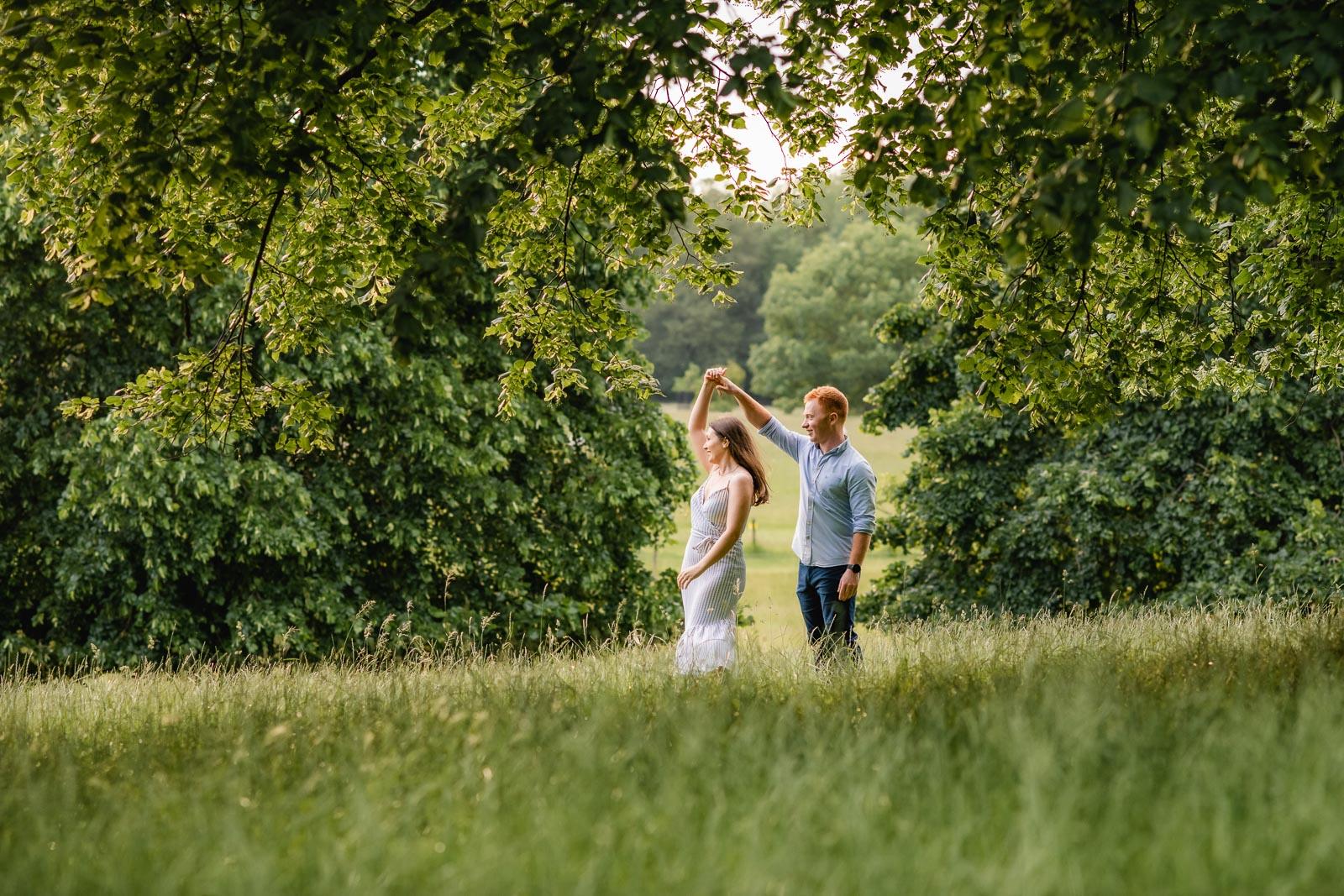 Burghley House pre-wedding shoot – Victoria & David