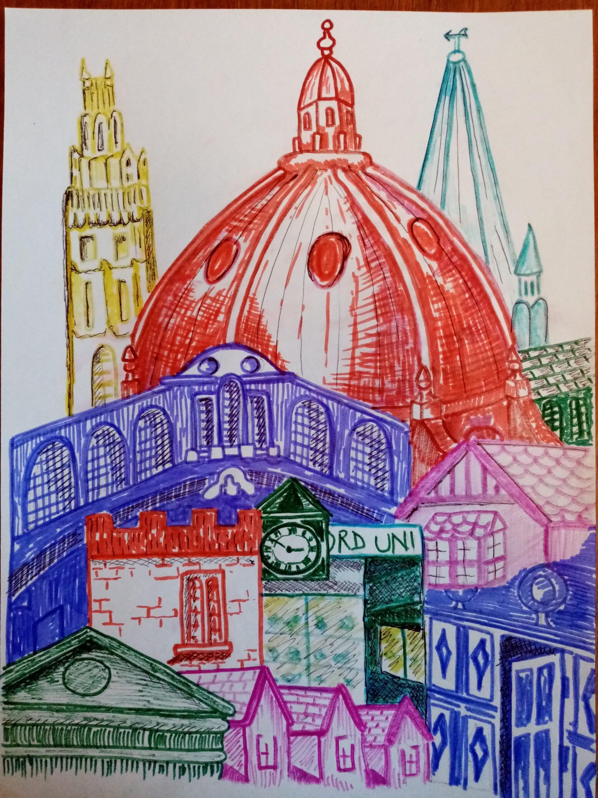 Felt tip pen post share ColourWheel Art Classes