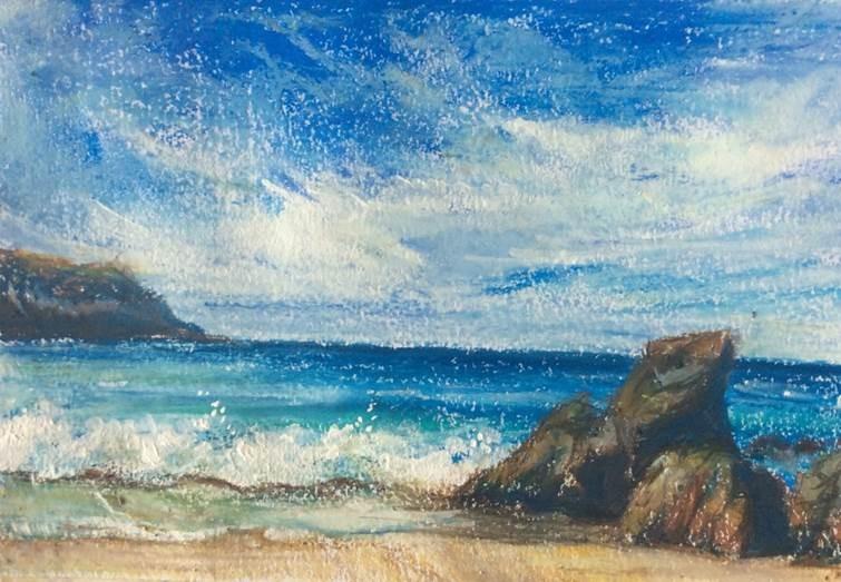 New Project - Oil Pastels - Seascape ColourWheel Art Classes