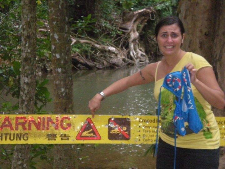 Bagno con i coccodrilli