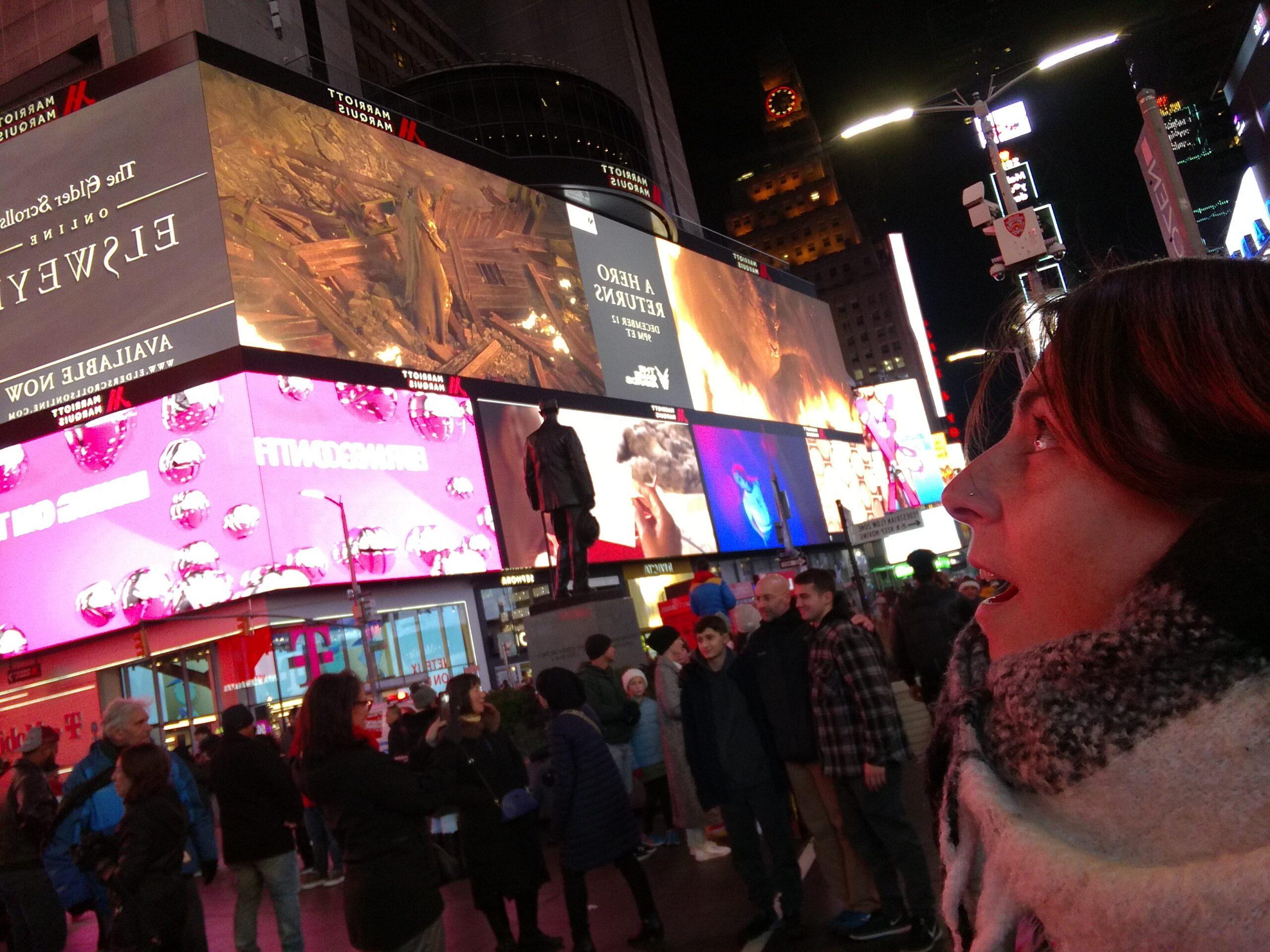 Rimanere a bocca aperta a Times Square