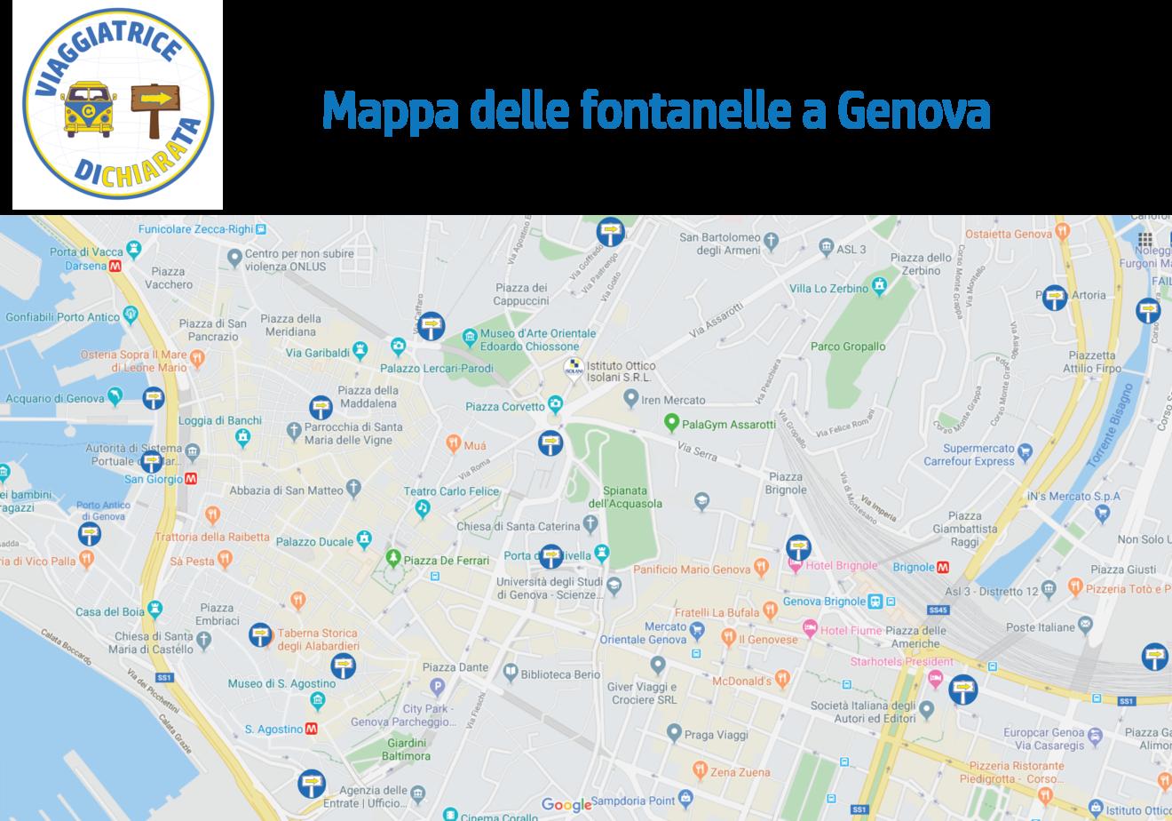 Mappa delle fontanelle a Genova