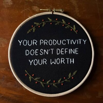 It's okay not to be productive during a global crisis.