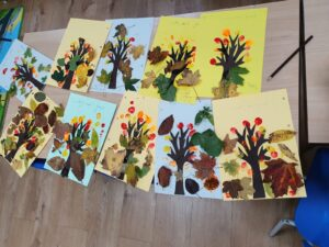 Learning about seasonal changes making Autumn trees and Autumn colours
