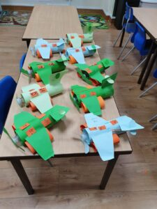 "An interactive making planes to learn about the Arabic letter ""Taa"""