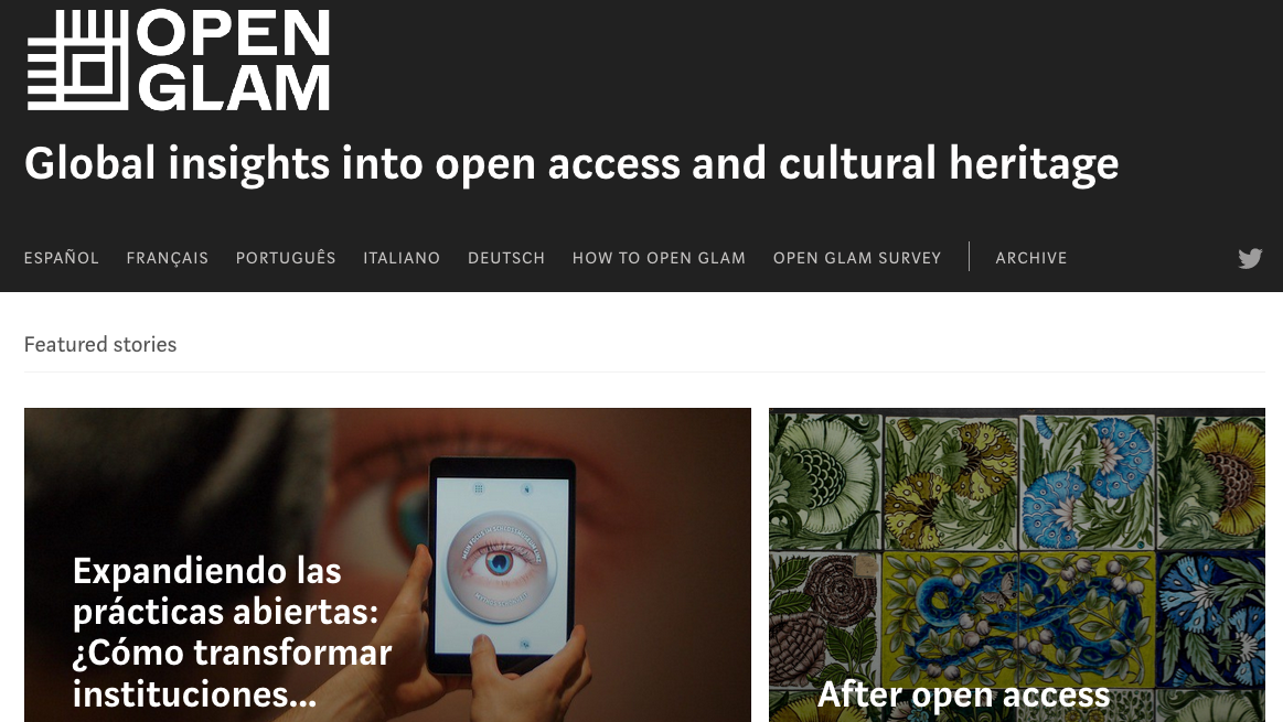Home page of the Medium publication Open GLAM