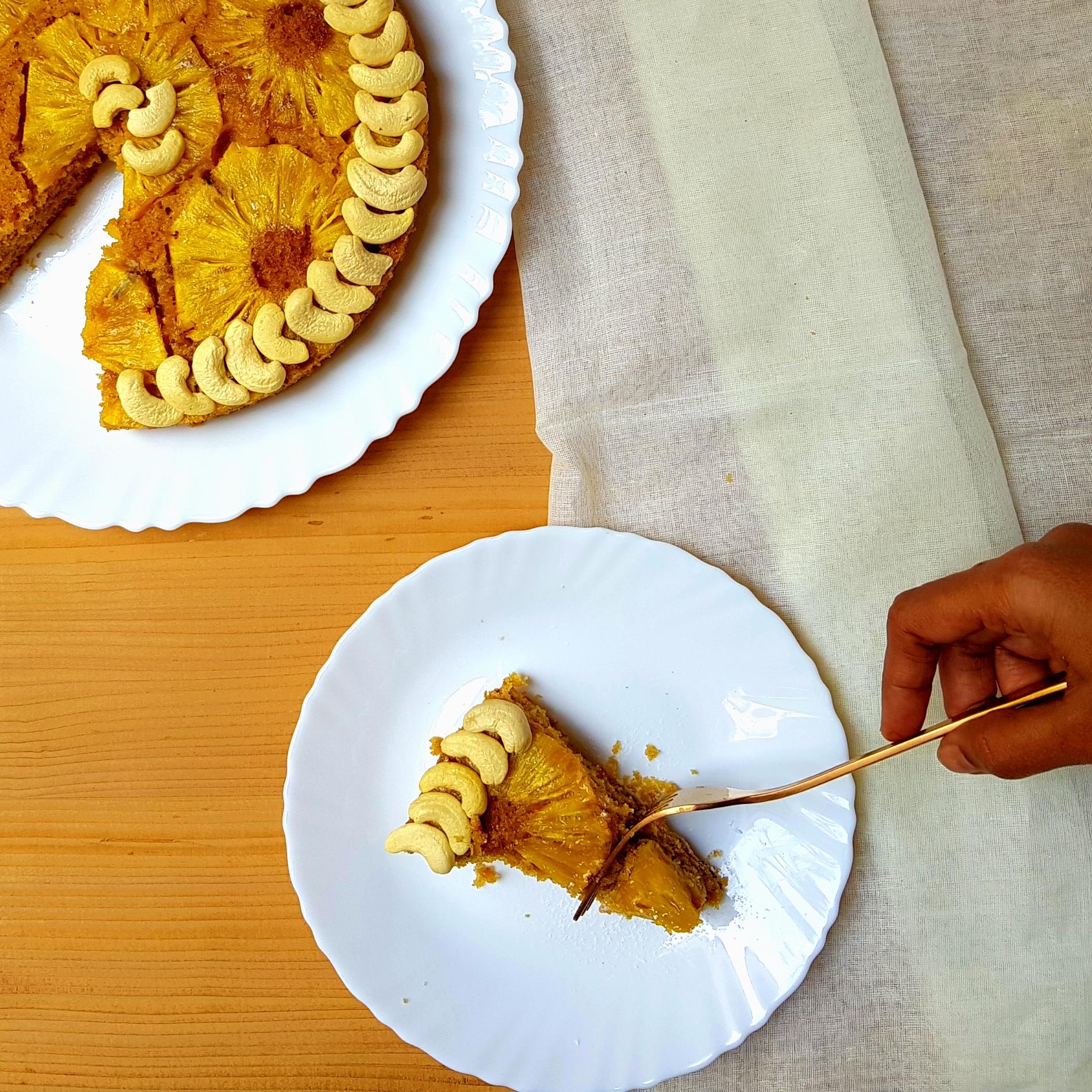 Upside-down Whole Wheat Pineapple Cake
