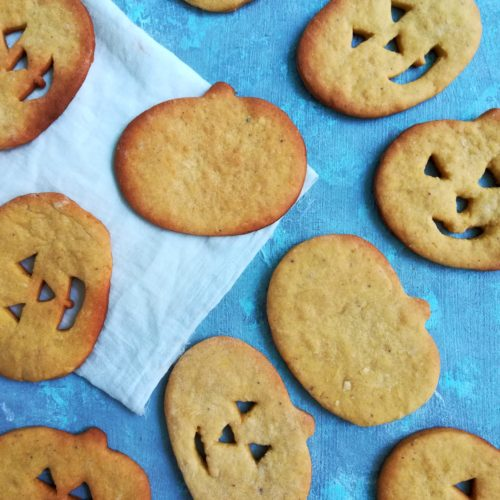 Pumpkin Biscuits with step by step pictures