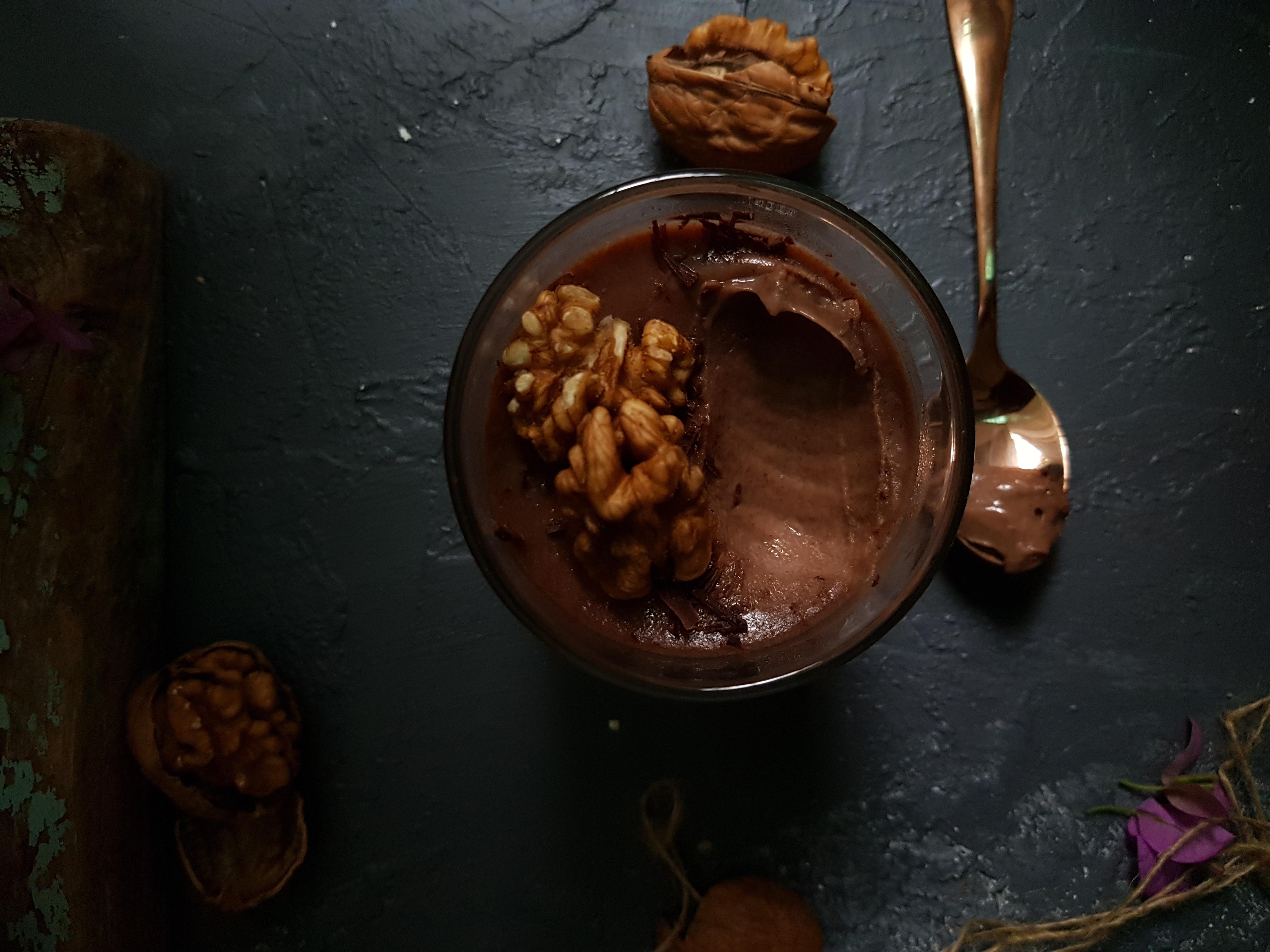 Chocolate Panna cotta - Italian Dessert