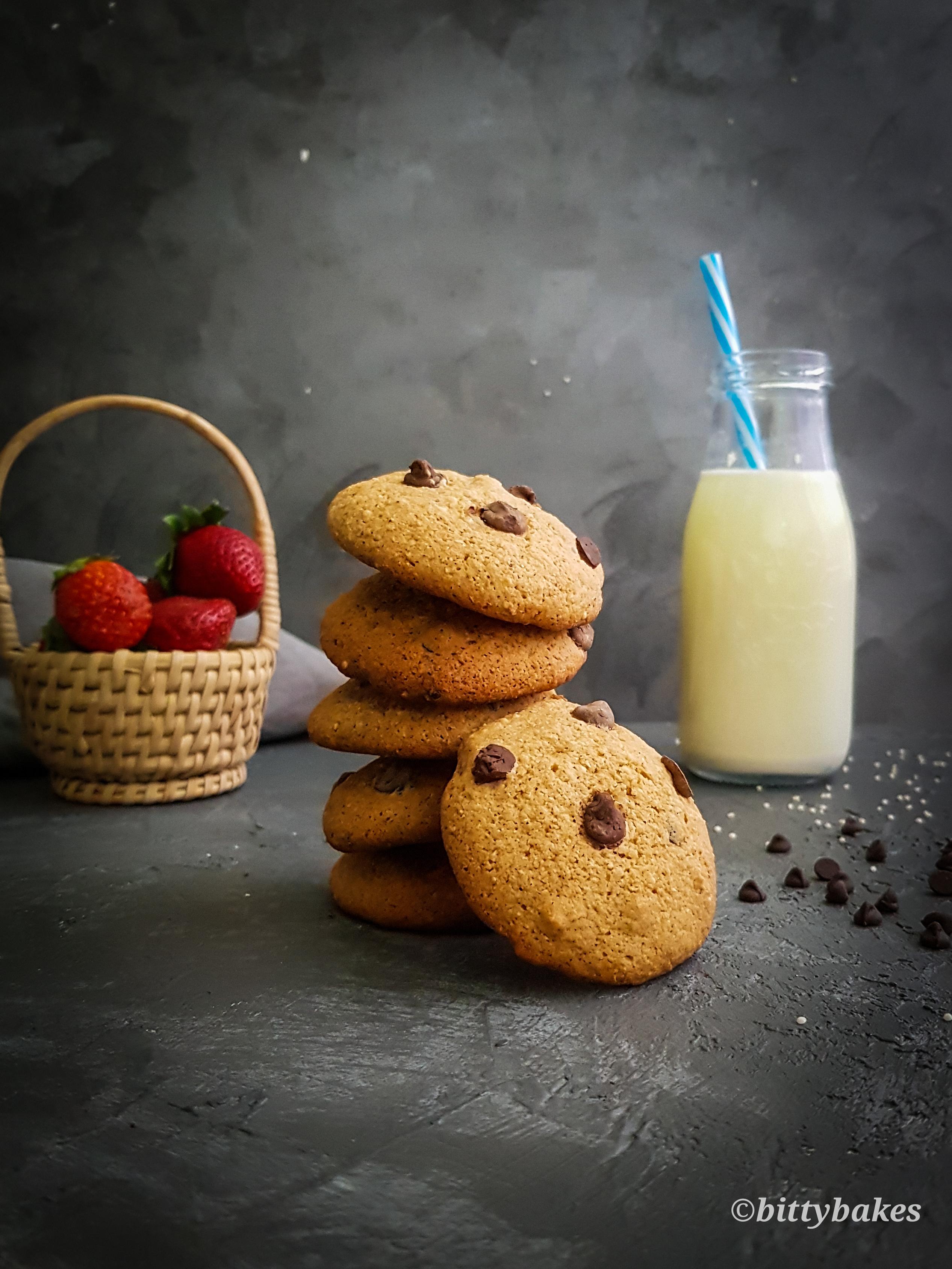 Healthy Millet Chocolate Chip Cookies