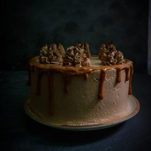 Dulce de Leche Chocolate Spice Cake