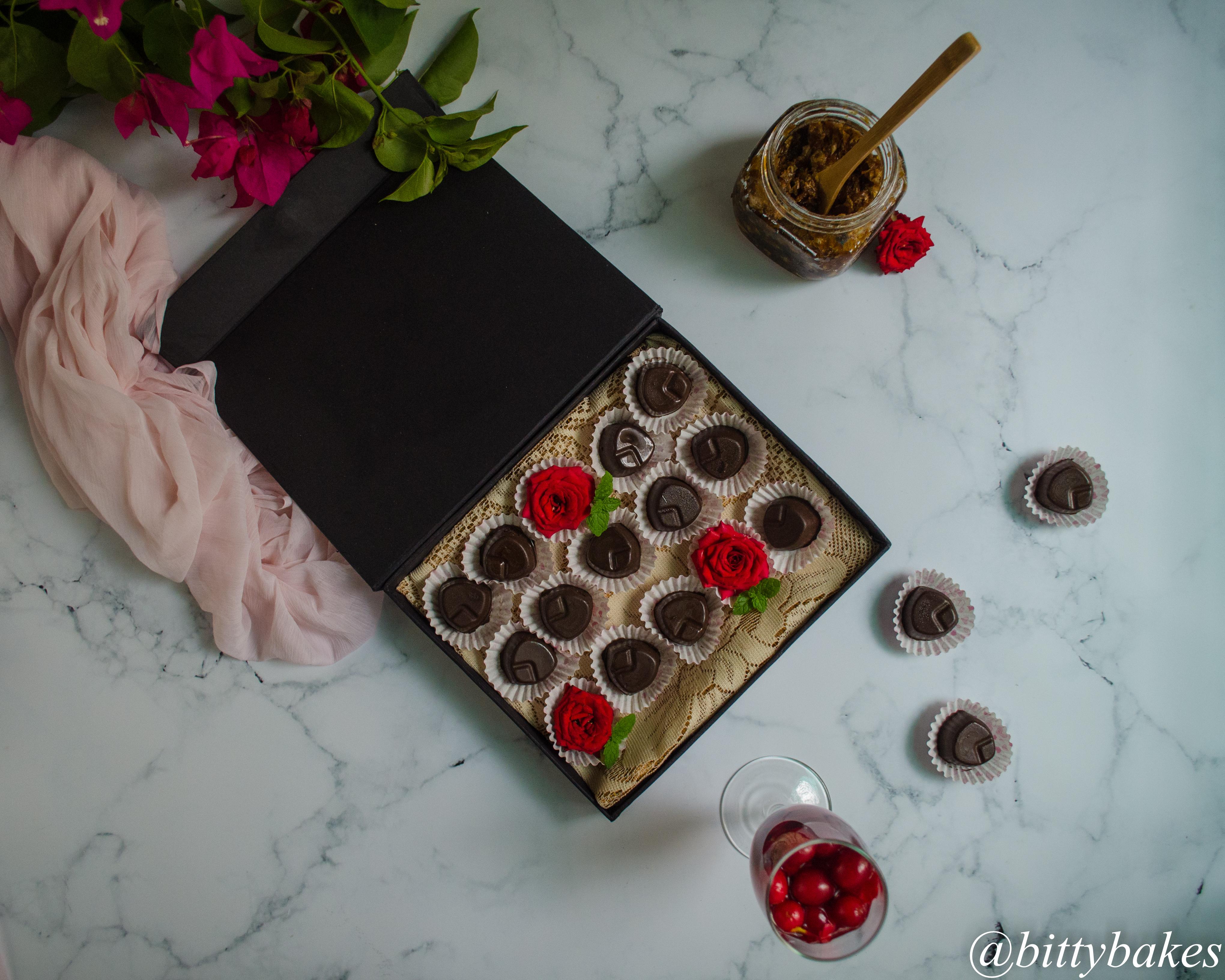 gulkand filled chocolate