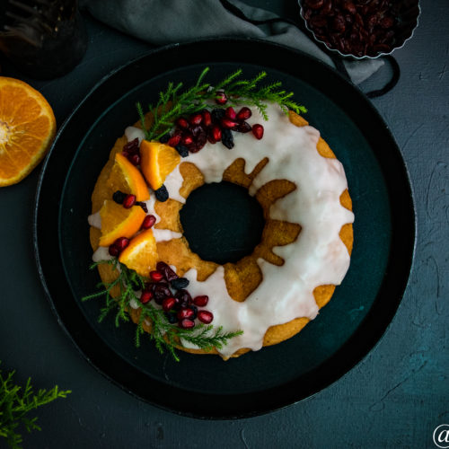 White wine spiced bundt cake