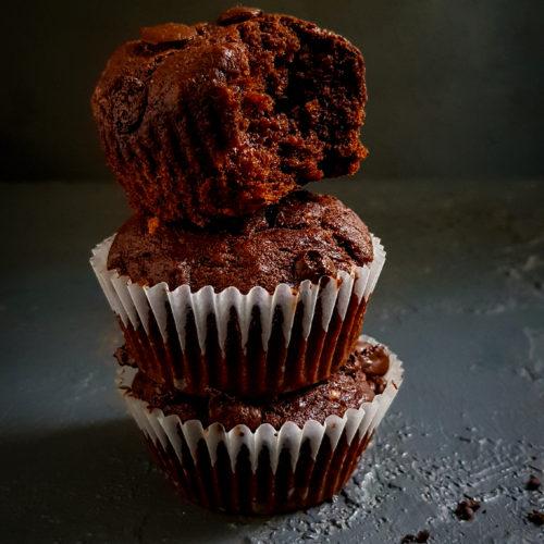 eggles healthy chocolate banana muffins