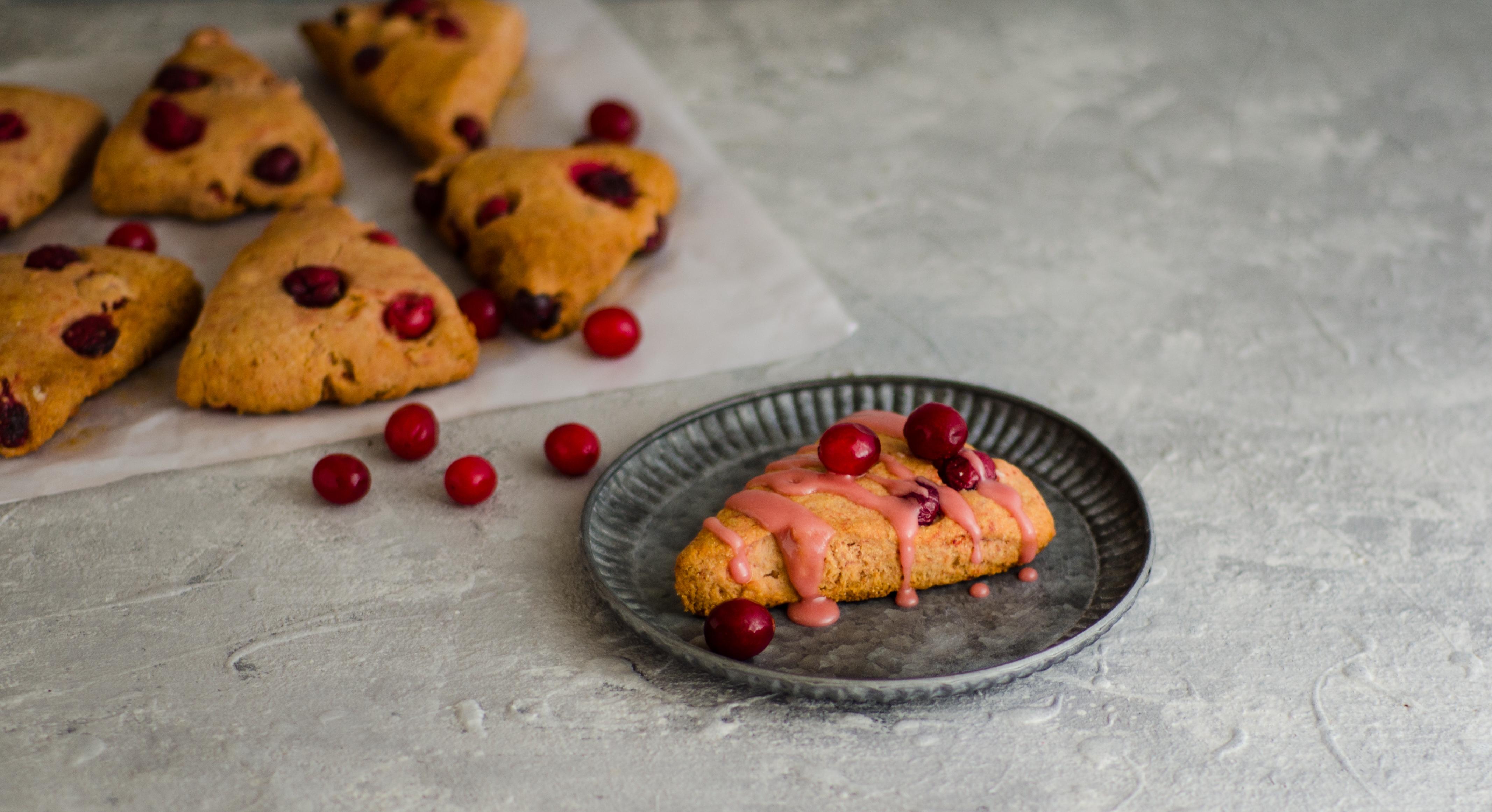 healthy cranberry scones