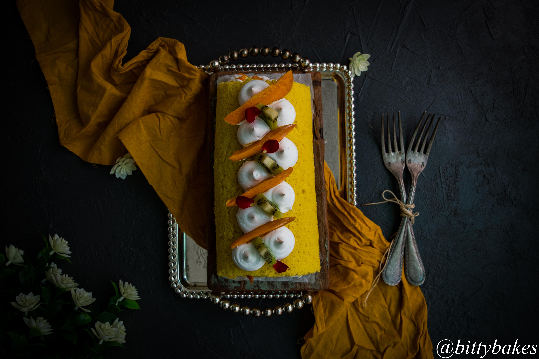 Mango Roll Cake-3311