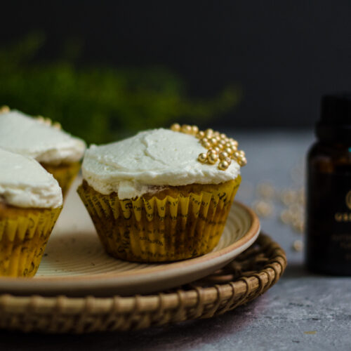 Eggless Buterscotch Cupcakes