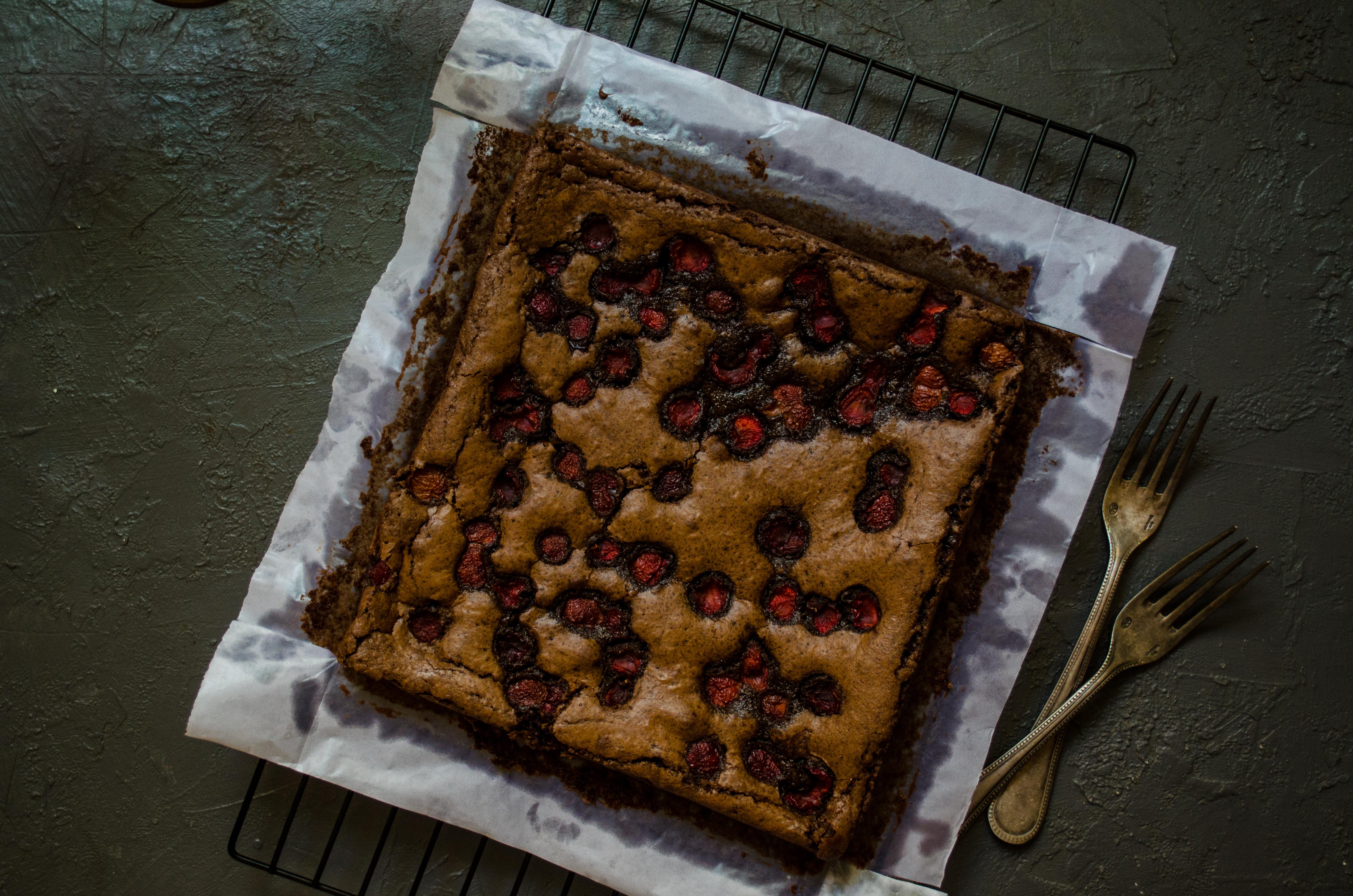 one bowl cherry brownie