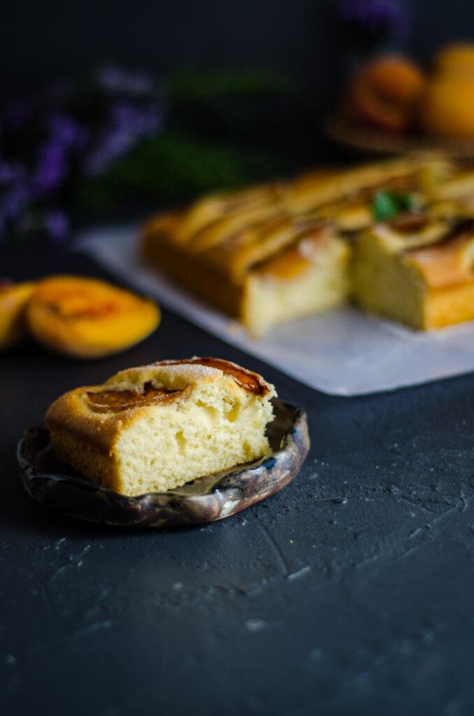 peach tray bakes