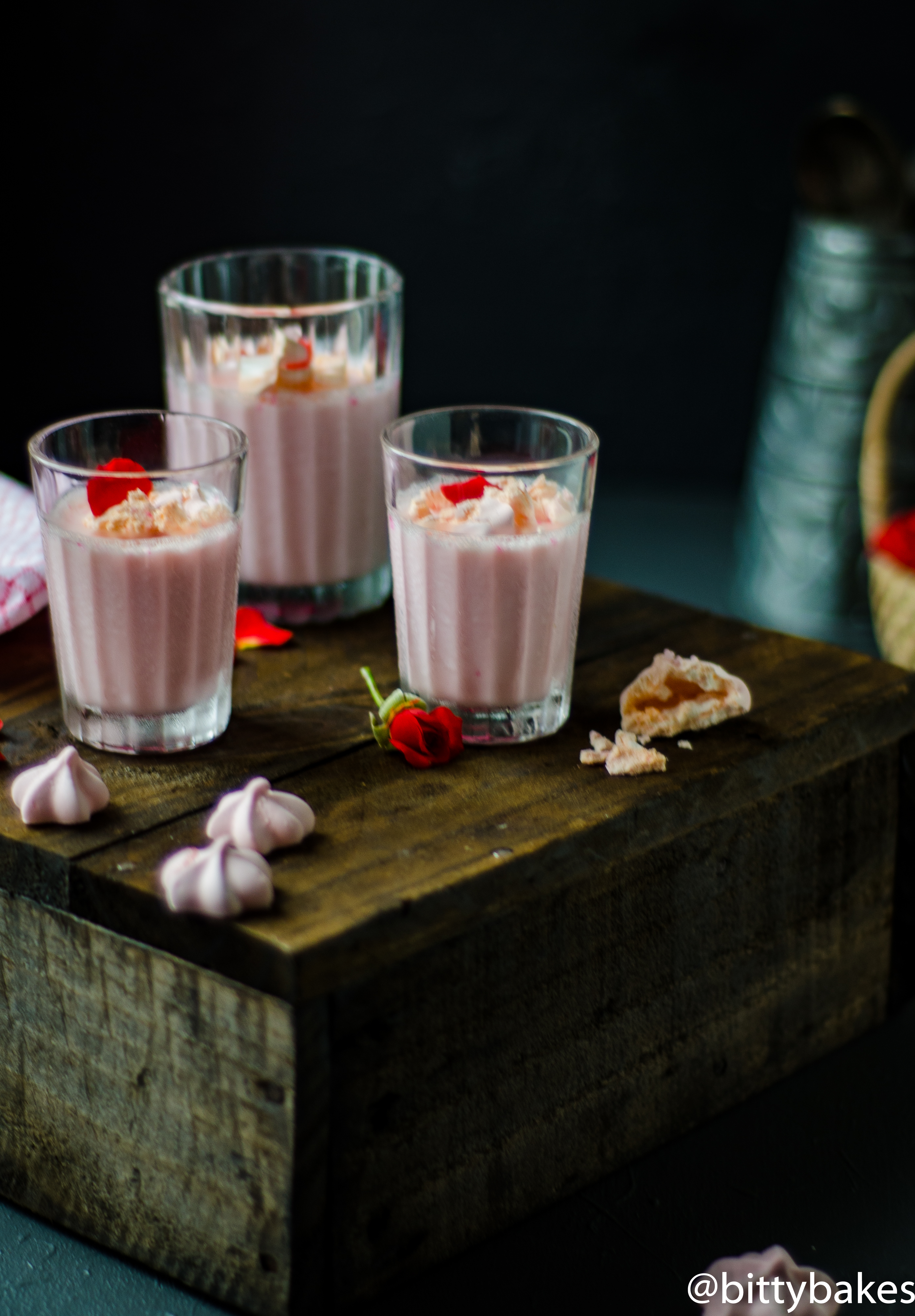 ruby chocolate panna cotta