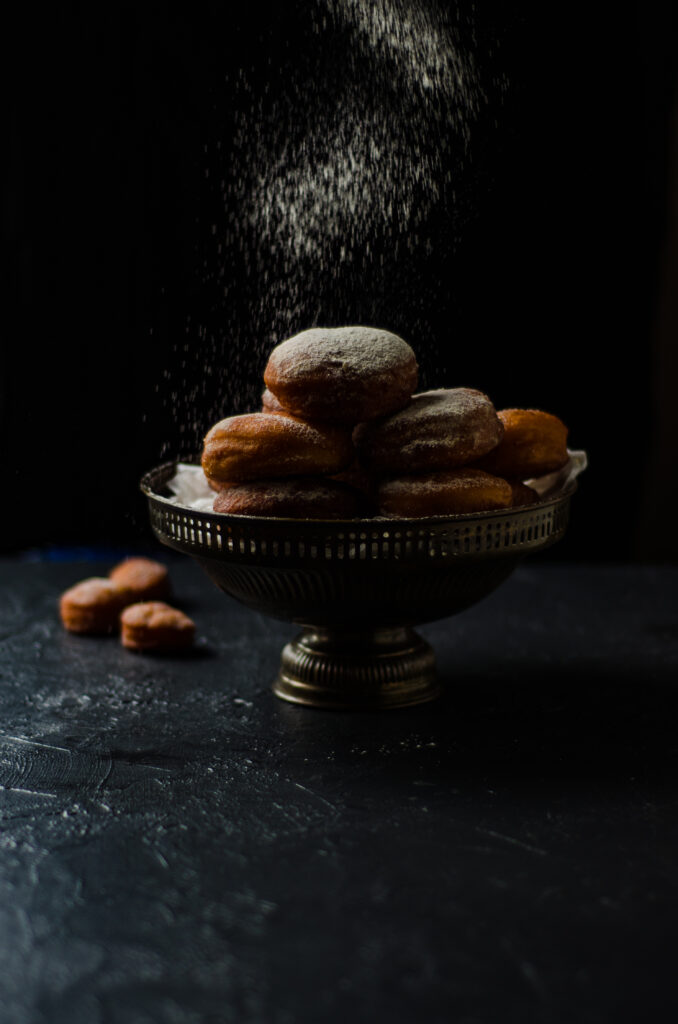 safrron donuts filled with pastry cream