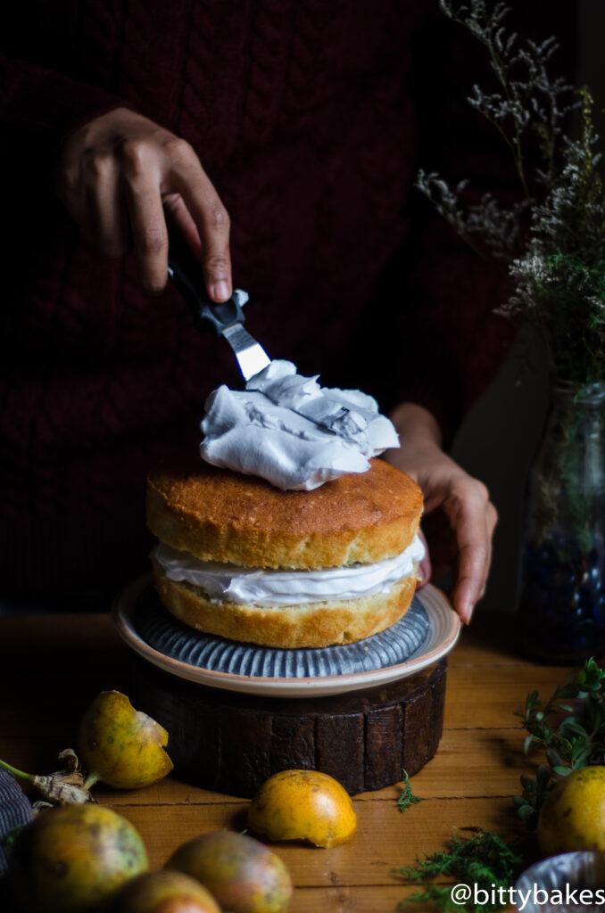 passion fruit coconut cake