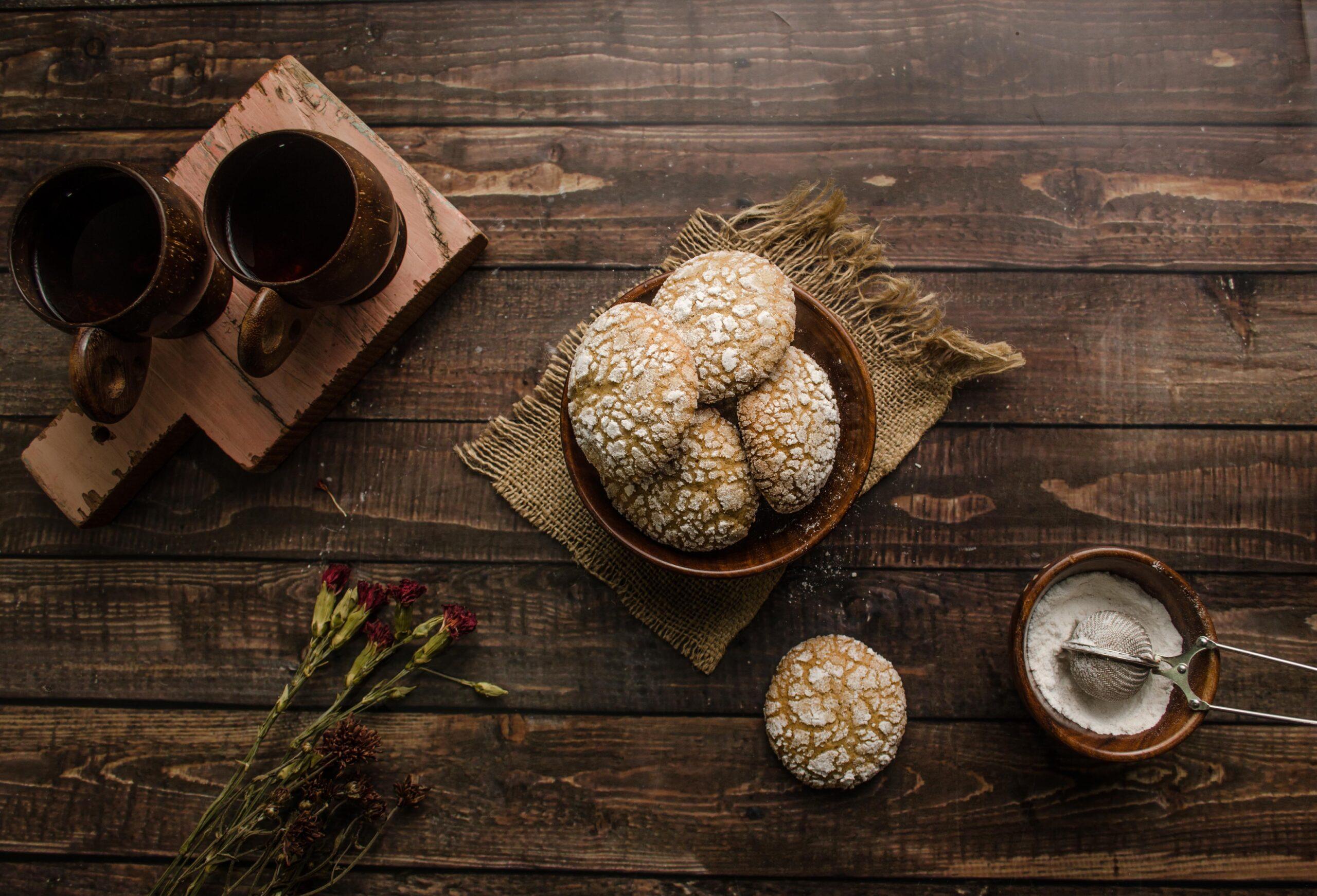 Irish cream crinkle cookies