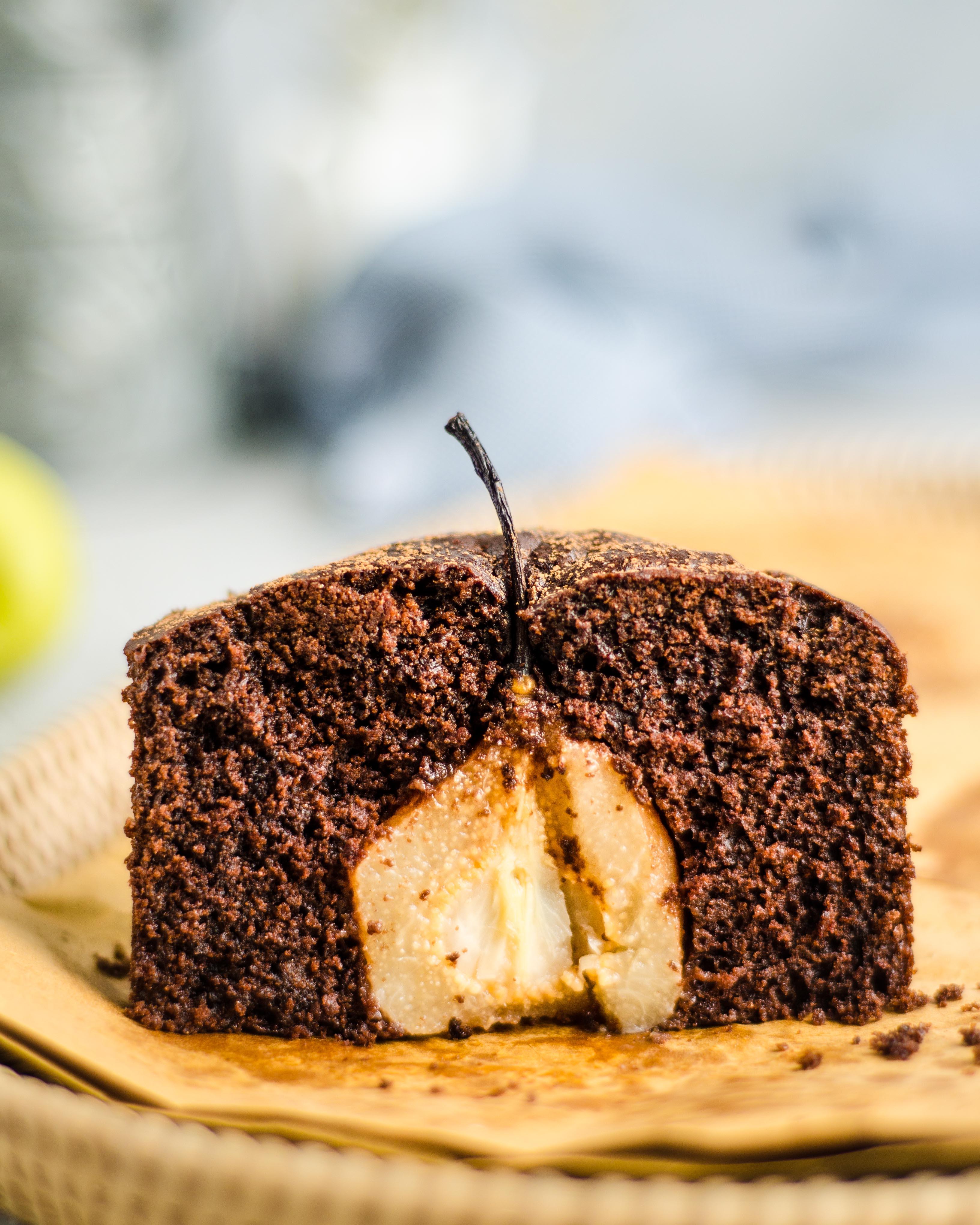 Masala Chocolate pear cake