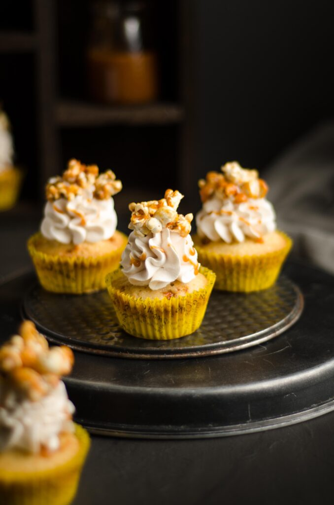 overloaded popcorn cupcakes