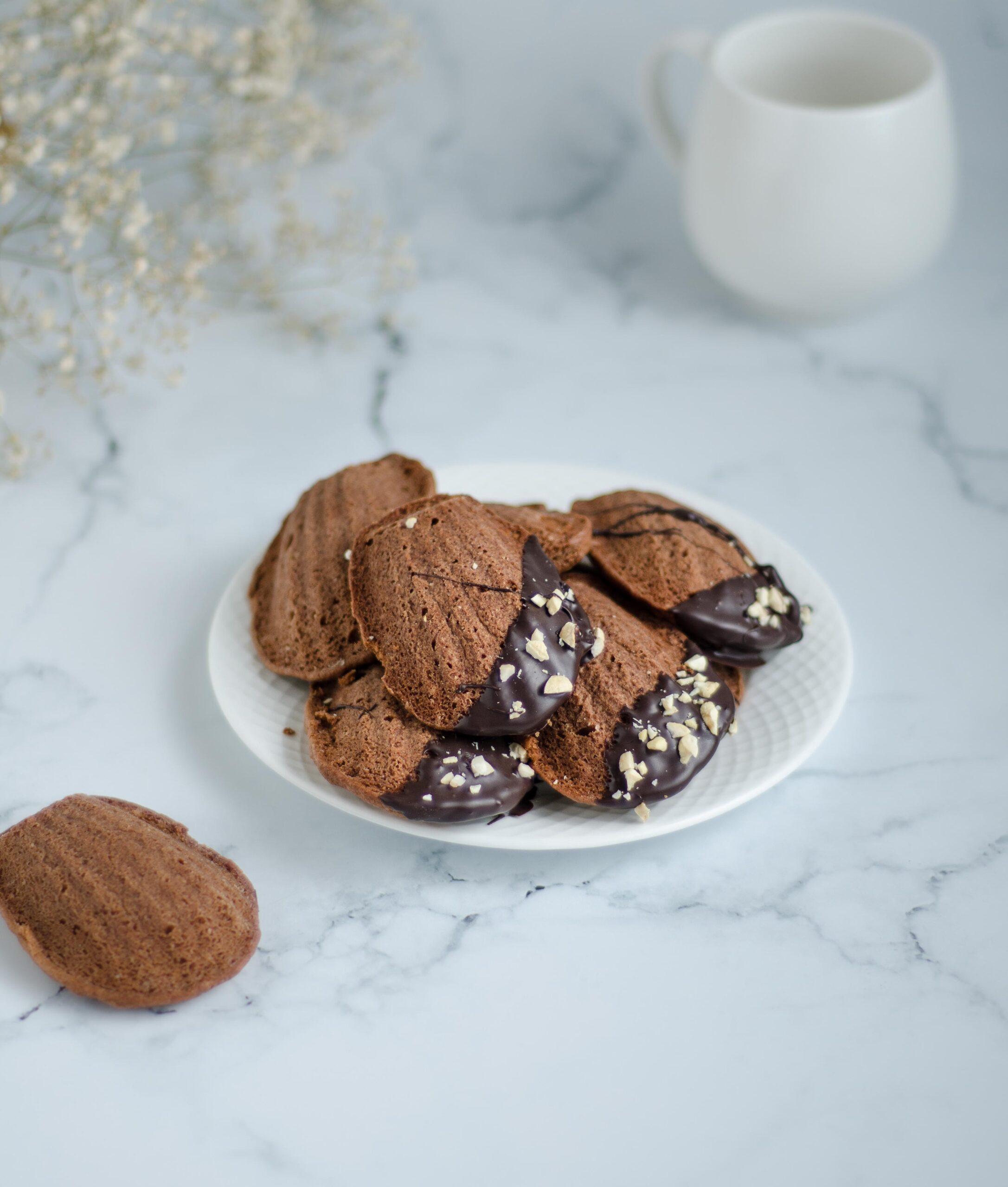 dark chocolate madeleines