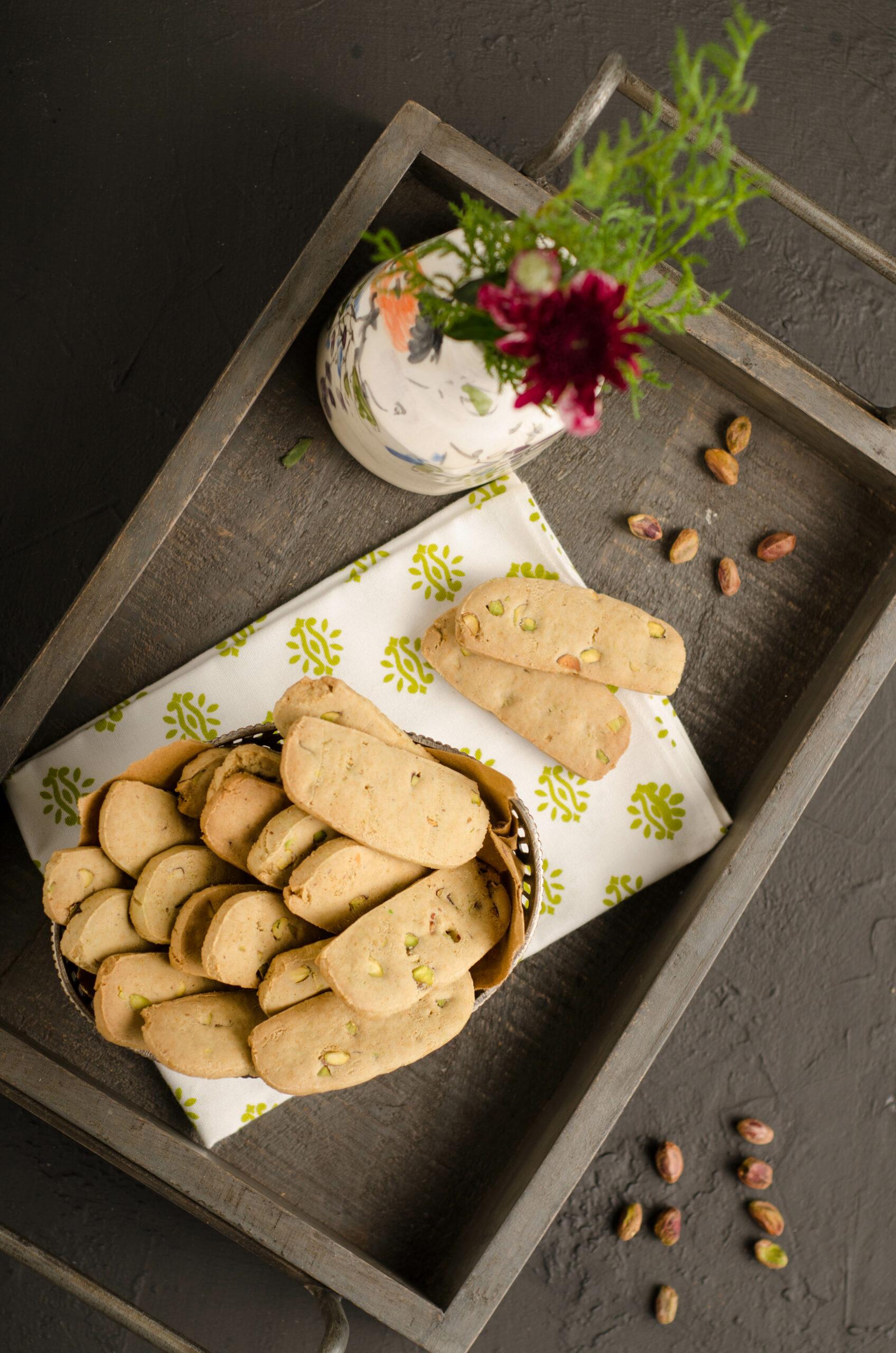 pistachio wafer cookies