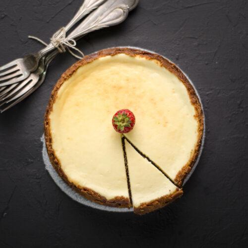 newyork style vanilla cheesecake
