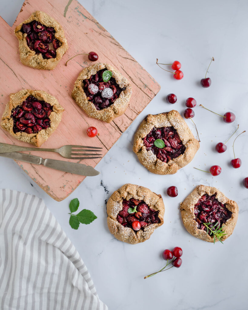 cherry galette - healthy - buckwheat