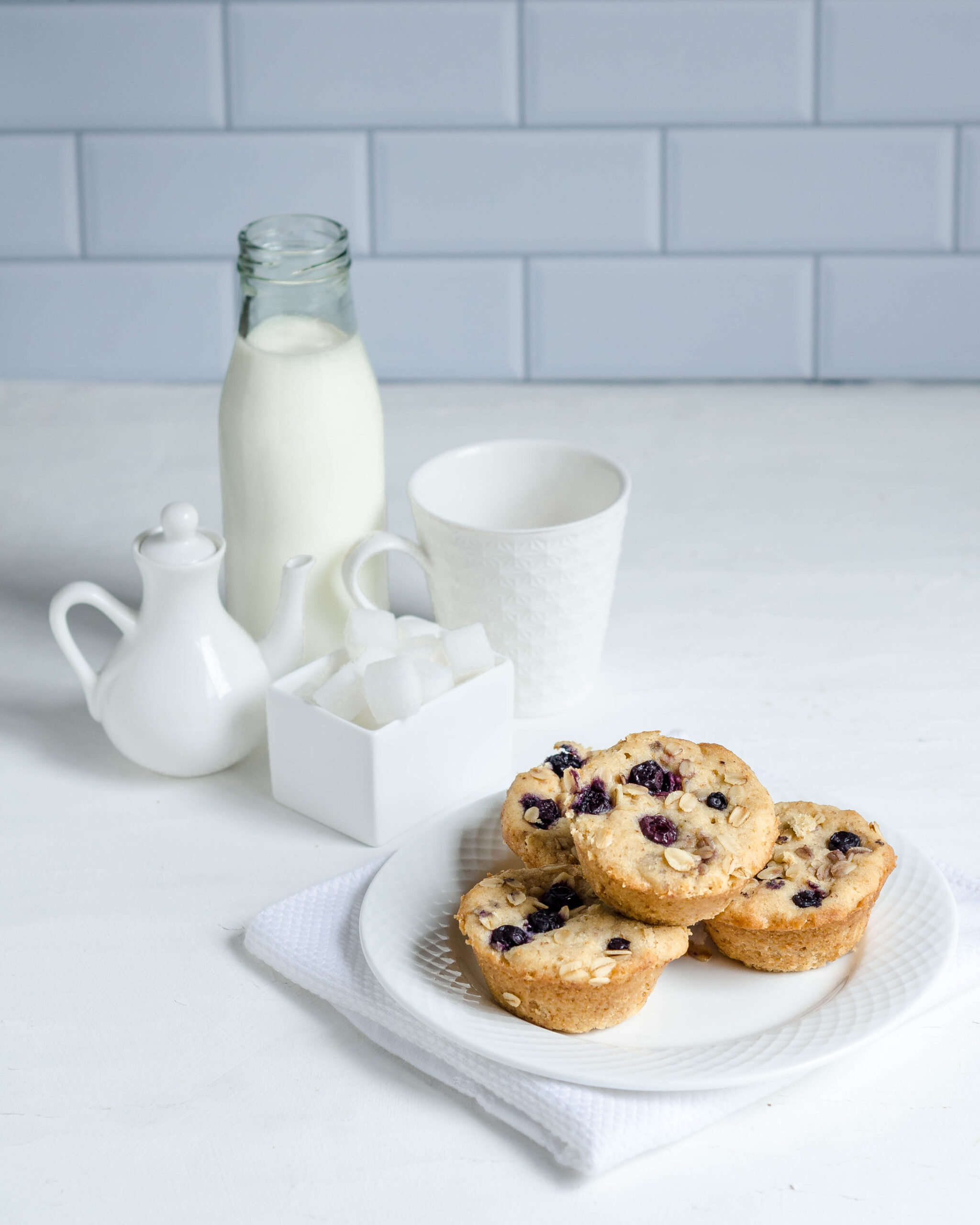 Healthy blueberry Almond Muffins