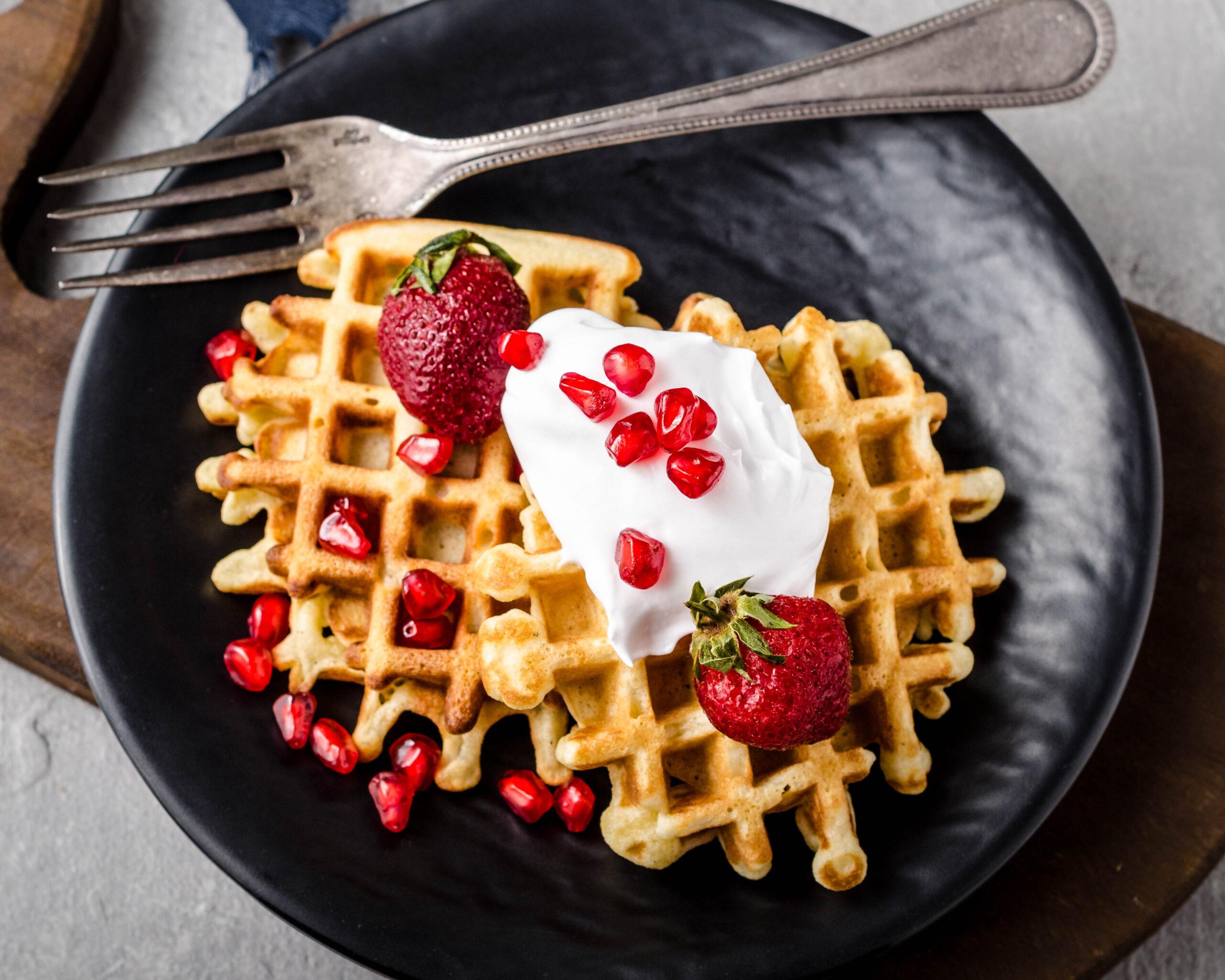 homemade belgian waffle