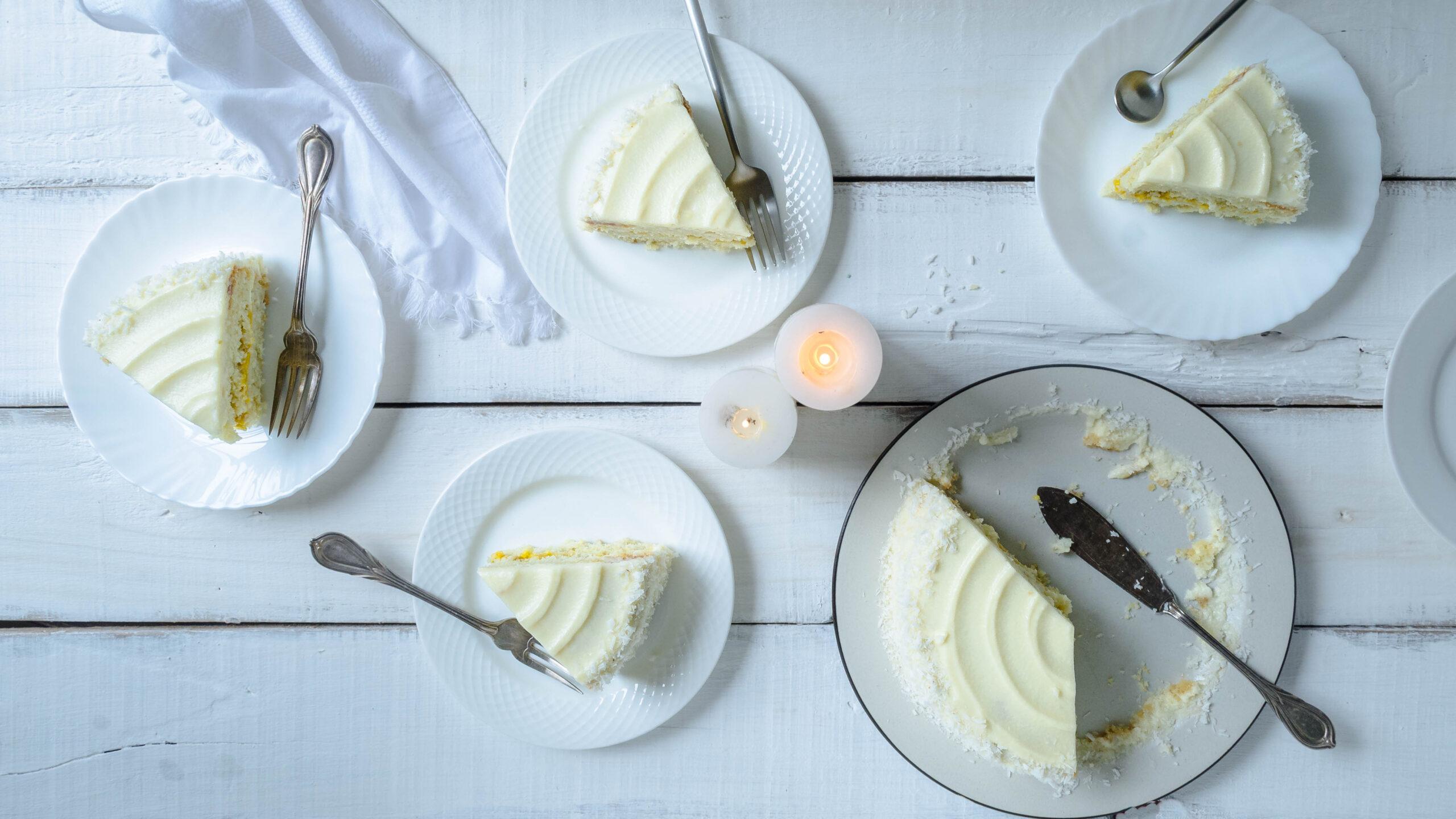 simple coconut cake recipe, coconut cake with mango curd, mango cake, coconut cake, easy coconut cake, healthy coconut cake, simple cake recipe