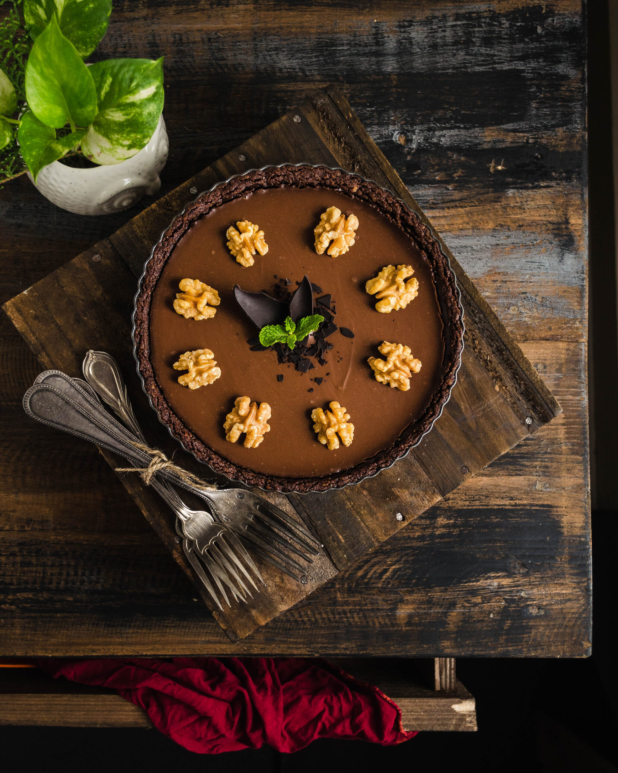 melt in mouth chocolate tart