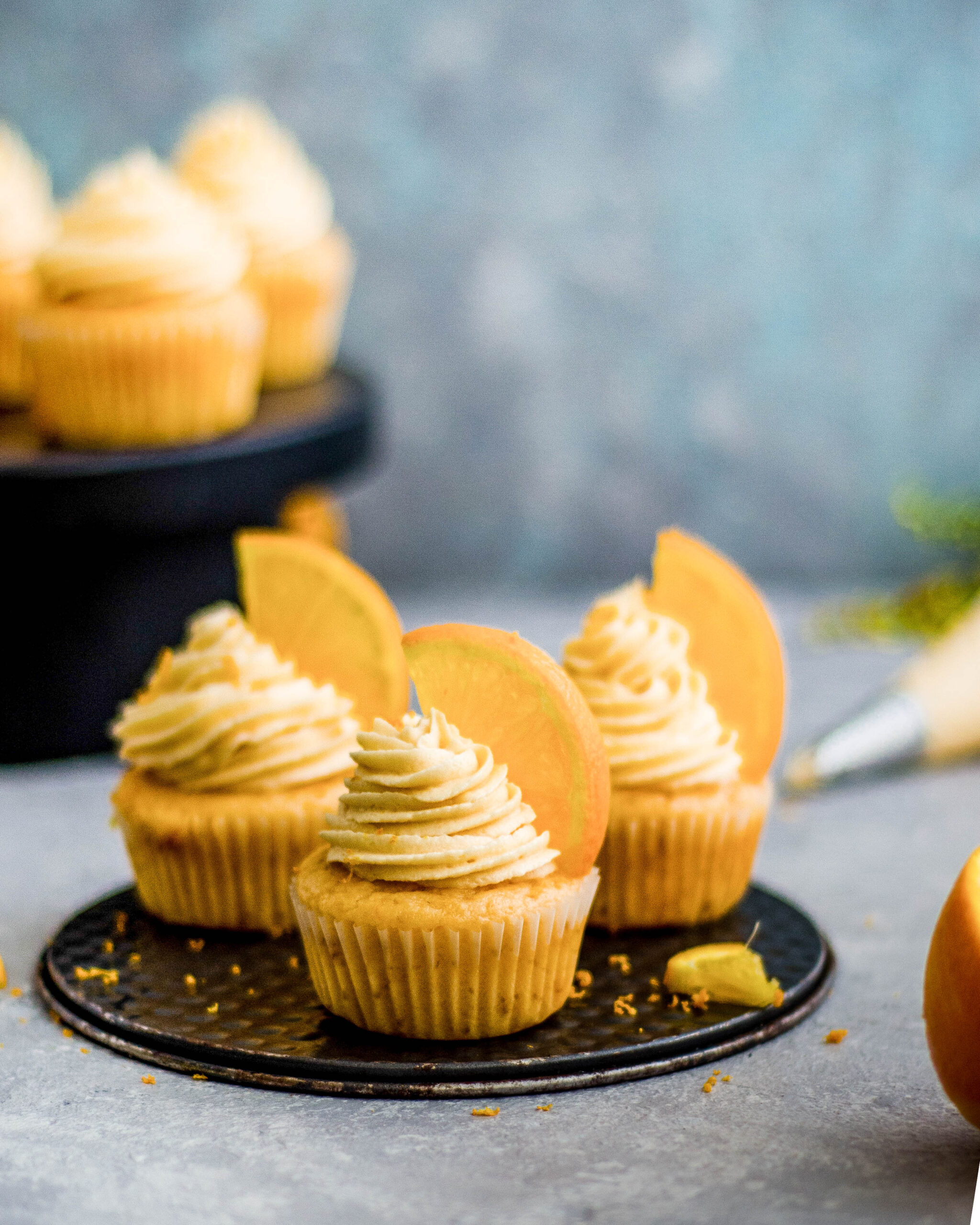 Orange cupcakes, eggless cupcakes, Eggless orange cupcakes, buttercream frosting, Eggless orange cupcakes with buttercream frosting, best baker in bangalore, Easy baking recipes