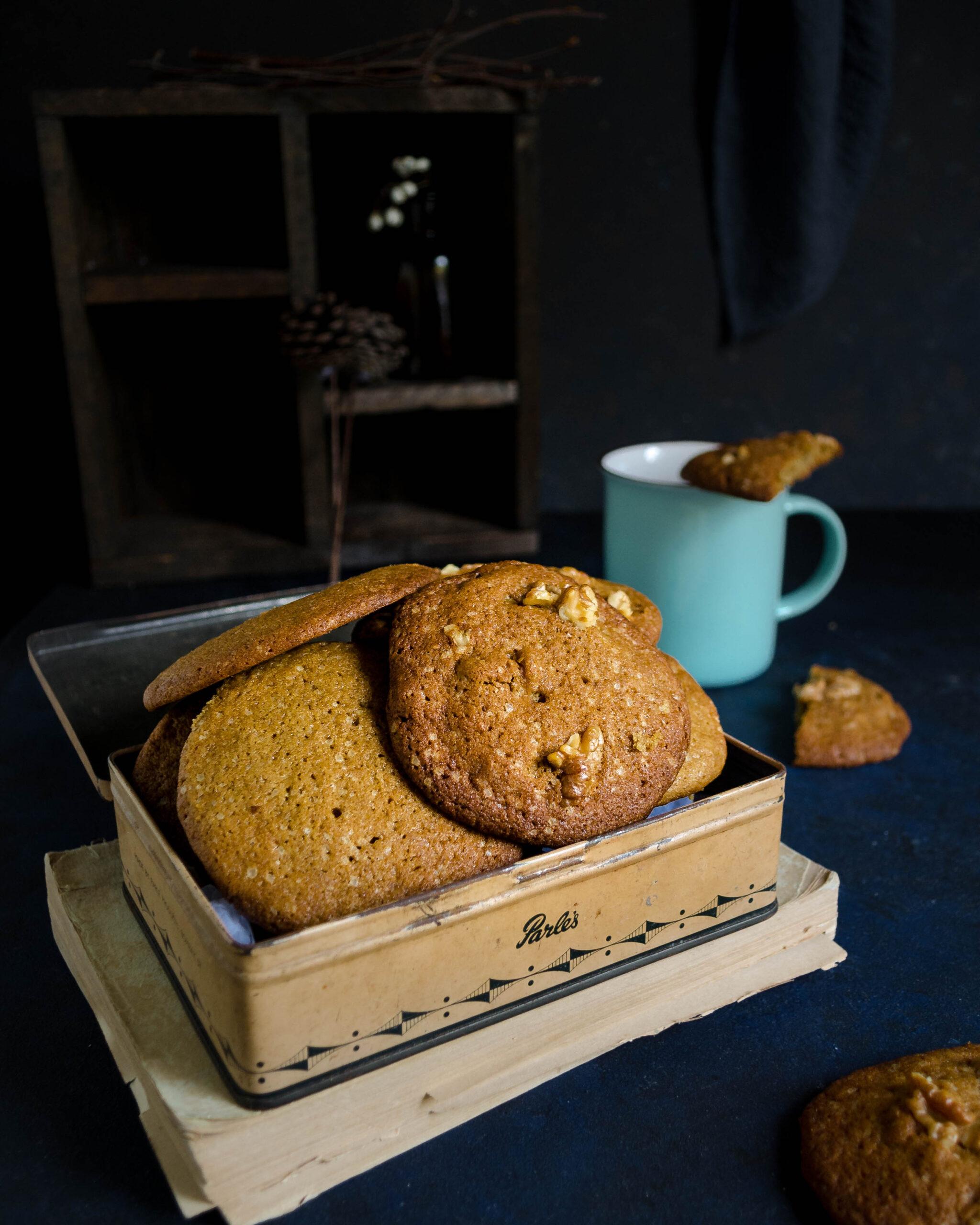 coffee cookies, easy cookies recipe, coffee baking recipes, healthy coffee walnut cookies, walnut cookies, healthy cookies, healthy coffee cookies