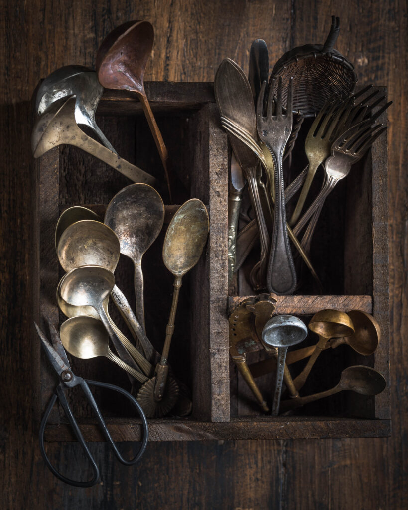 antique spoons and forks