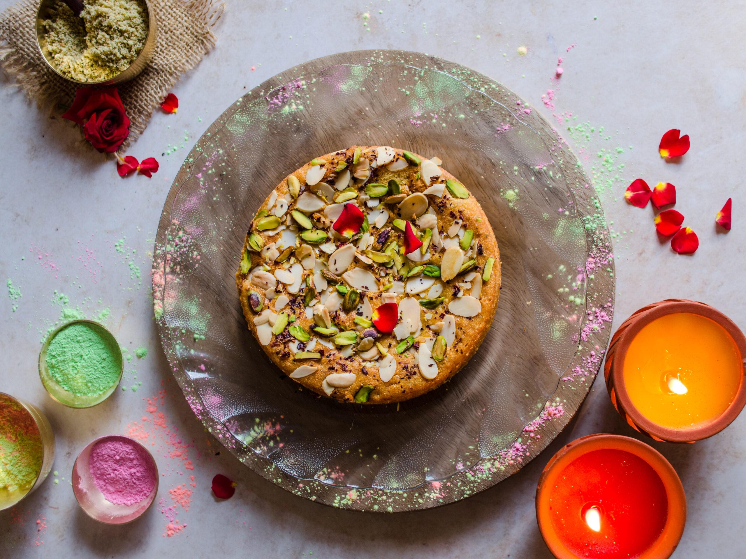 eggless healthy thandai cake