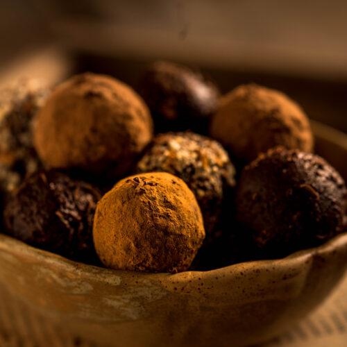 dark chocolate truffle, easy dessert recipe, easy truffle recipe