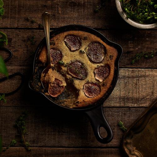 Eggless Fig Thyme Frangipane, easy eggless recipe, healthy dessert recipe