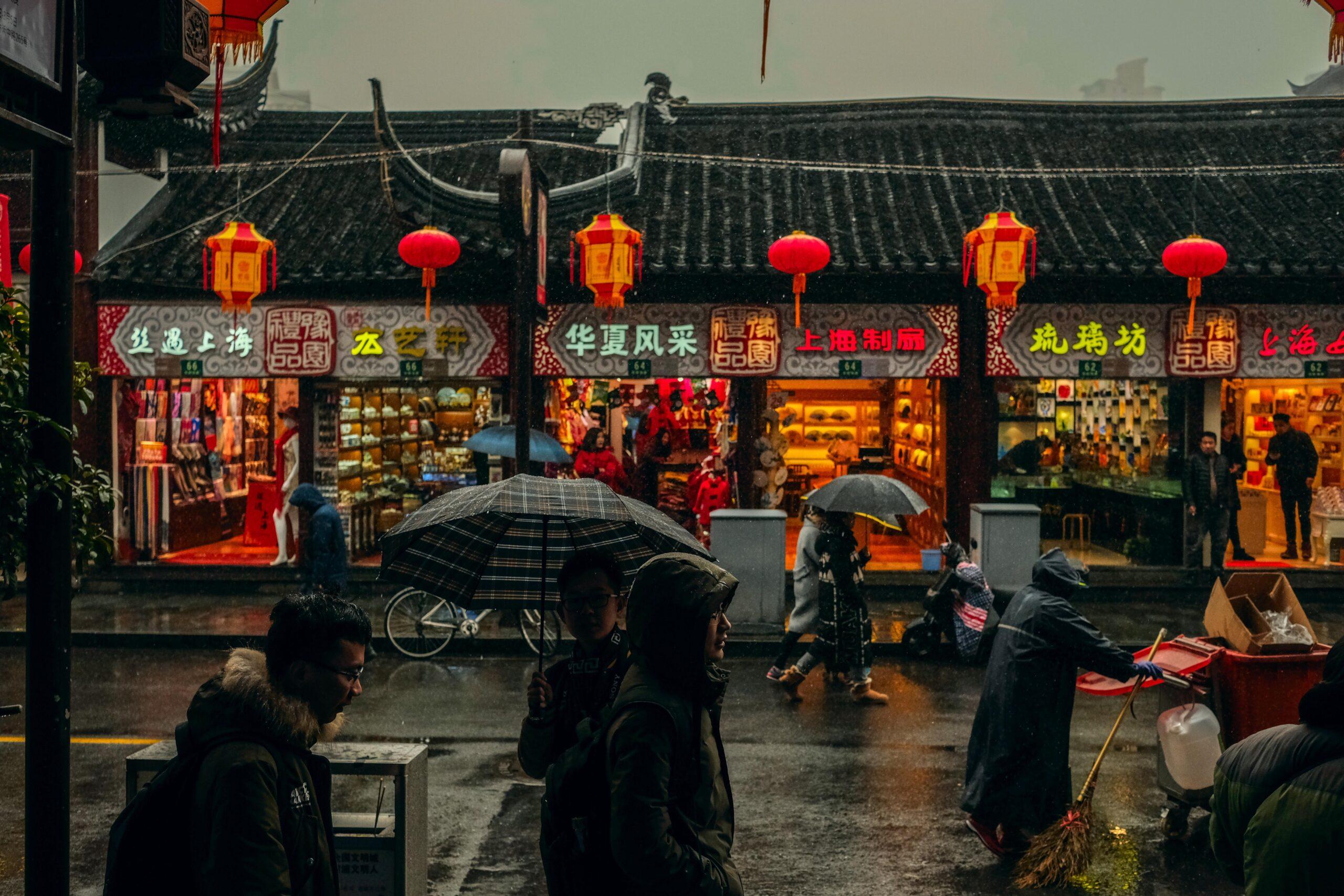 איך גשם נוצר בציורים סינים