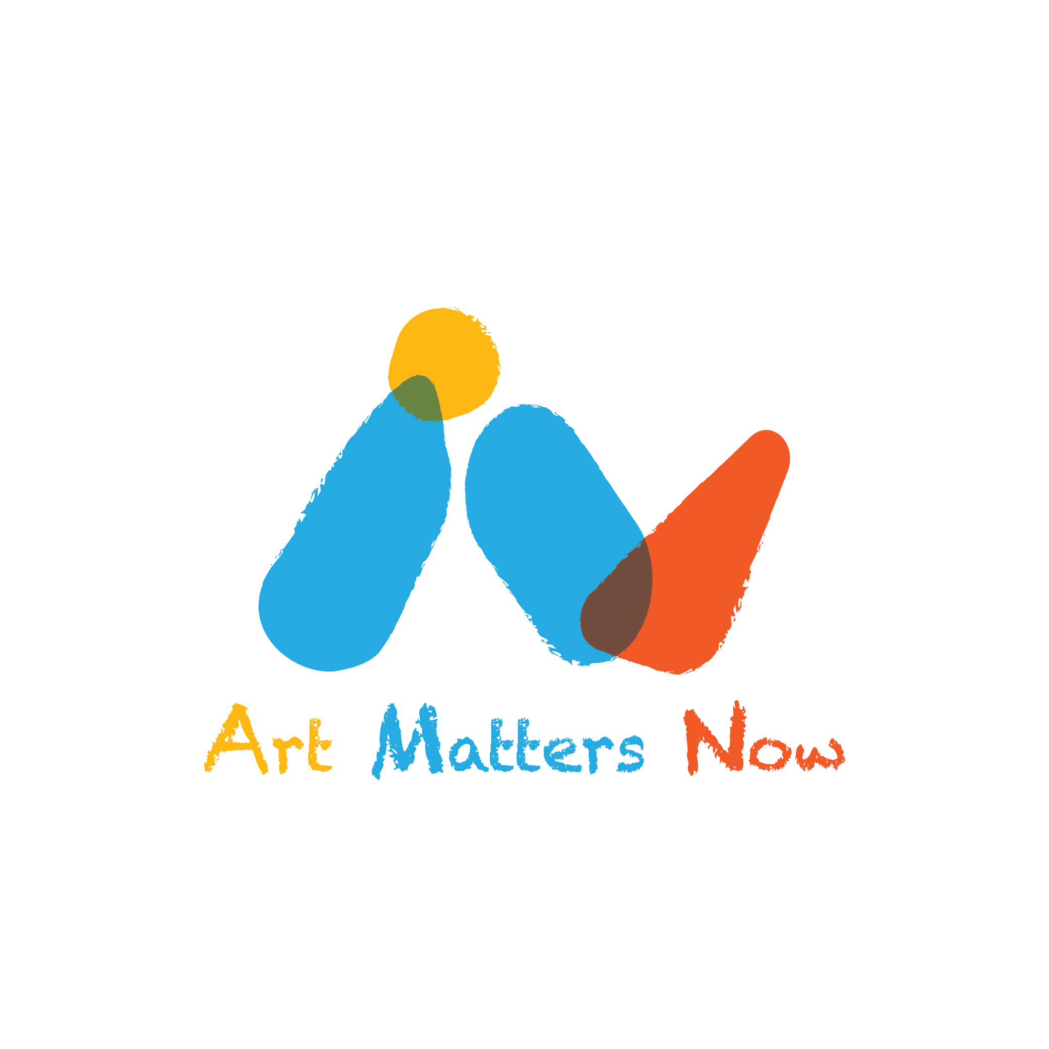 Coloured logo of Art Matters Now