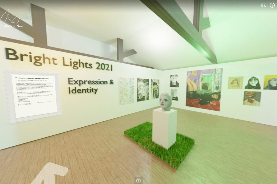 Digitally rendered exhibition titled Bright Light 2021