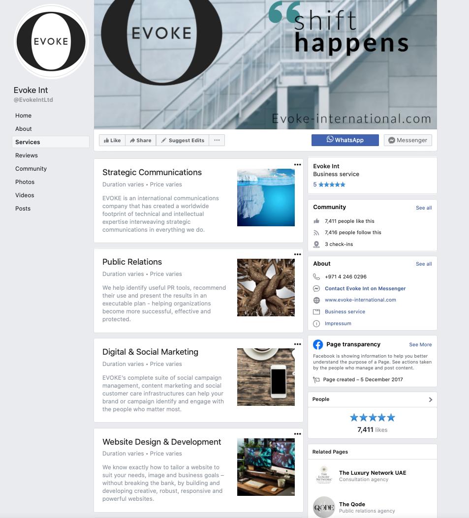 Awesome content and social marketing Dubai - Evoke International