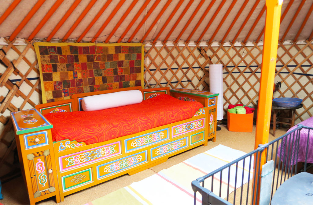 Hidden Valley Yurts (Inside Yurt 1 Princess bed) One Epic Road Trip