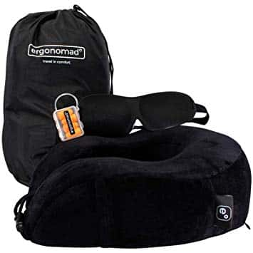 Valentines Day Ergonomad 100% Pure Memory Travel Neck Pillow -