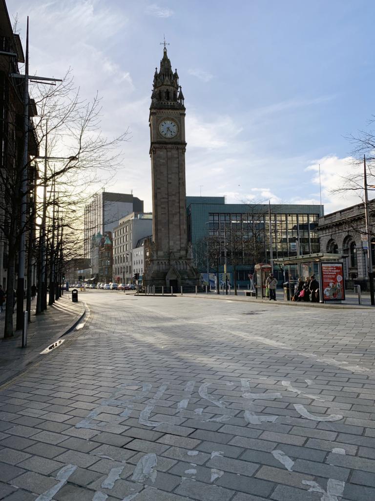 Belfast city centre The Albert Memorial clock - one epic road trip blog